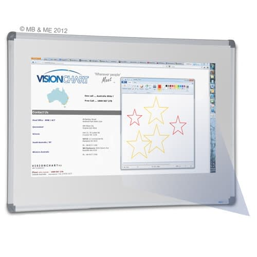 787_Projection Porcelain Whiteboard – standard frame – 500 x 500
